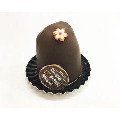 Slagroomtorentje met chocolade