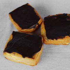 Crèmekoek met chocolade
